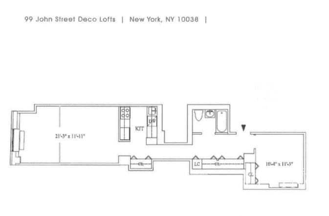 Unit 410 at 99 John Street, New York, NY 10038