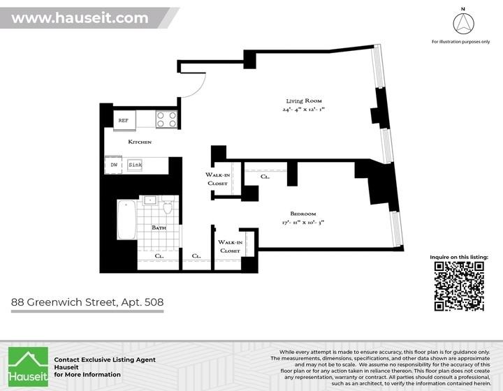Unit 508 at 88 Greenwich Street, New York, NY 10006