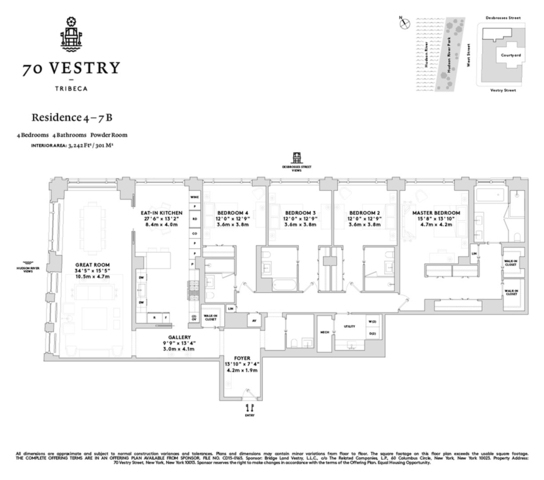 Unit 4B at 70 Vestry Street, New York, NY 10013