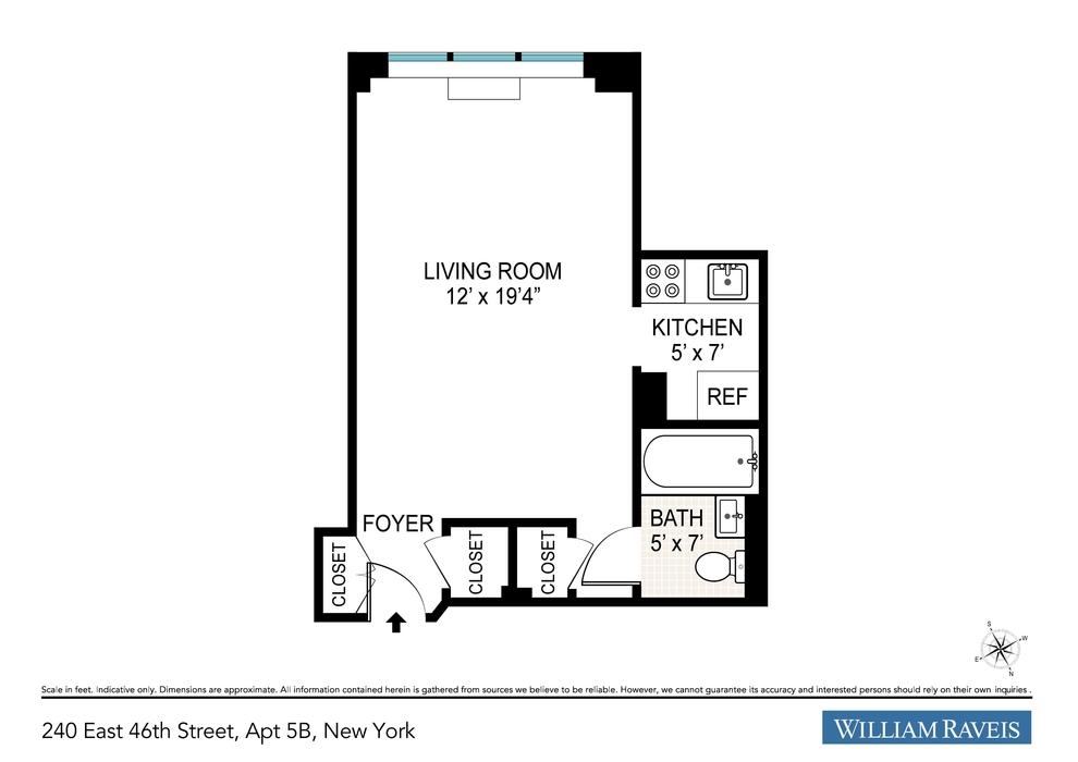 Unit 5B at 240 East 46th Street, New York, NY 10017