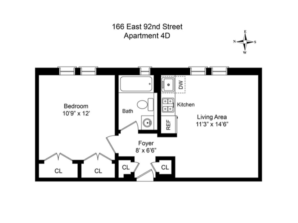 Unit 4D at 166 East 92nd Street, New York, NY 10128