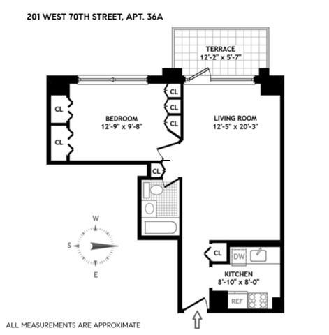 Unit 36A at 201 West 70th Street, New York, NY 10023