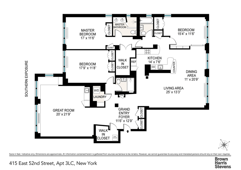 Unit 3LC at 415 East 52nd Street, New York, NY 10022