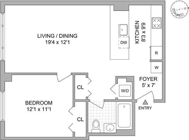 Unit N7E at 555 West 23rd Street, New York, NY 10011