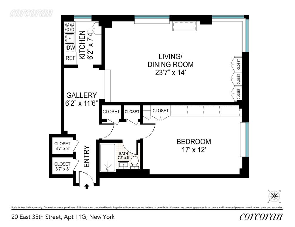 Unit 11G at 20 East 35th Street, New York, NY 10016