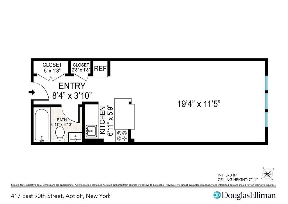 Unit 6F at 417 East 90th Street, New York, NY 10128