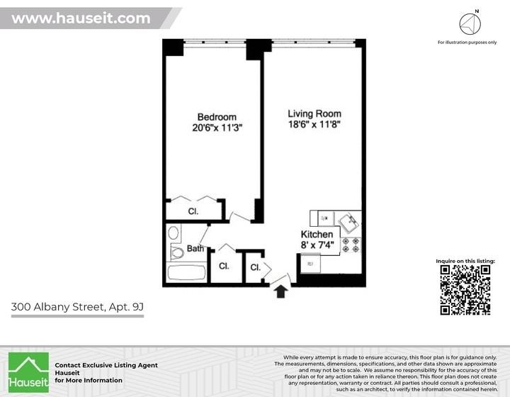 Unit 9J at 300 Albany Street, New York, NY 10280