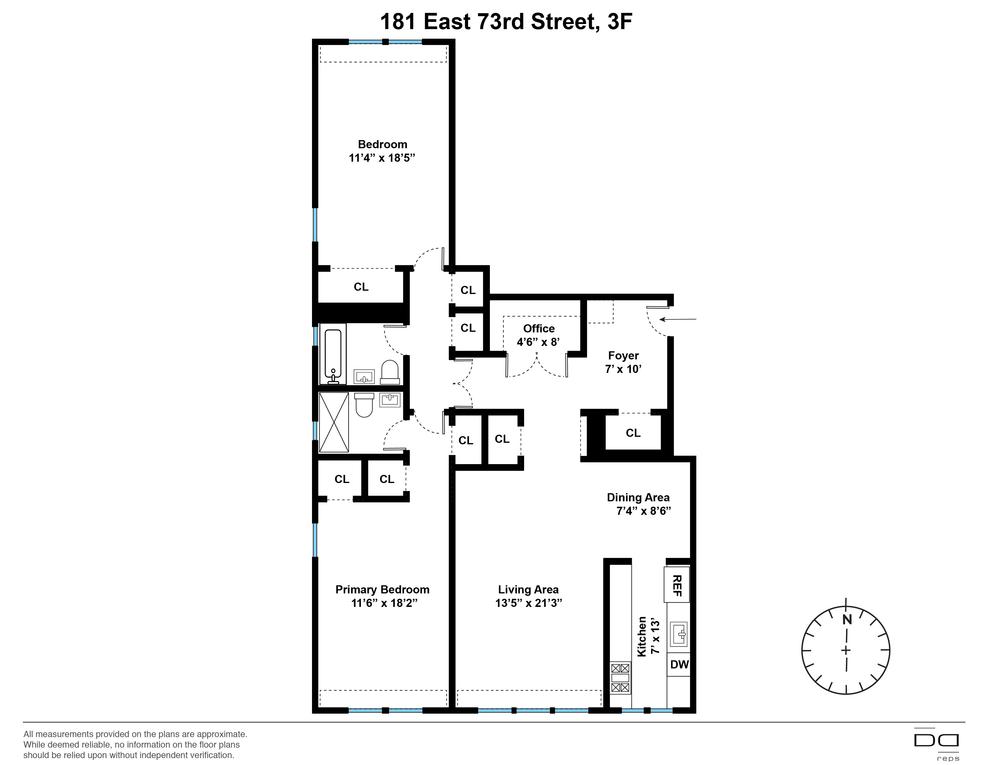Unit 3F at 181 East 73rd Street, New York, NY 10021