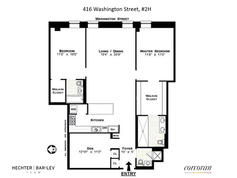 Unit 2H at 416 Washington Street, New York, NY 10013