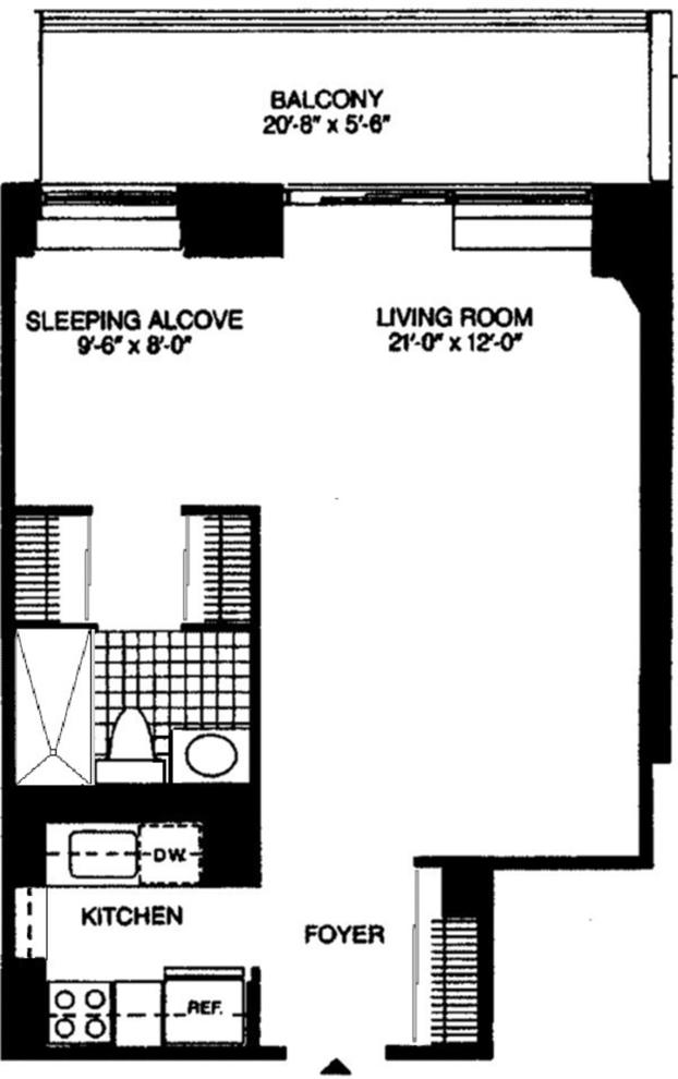 Unit 16C at 311 East 38th Street, New York, NY 10016