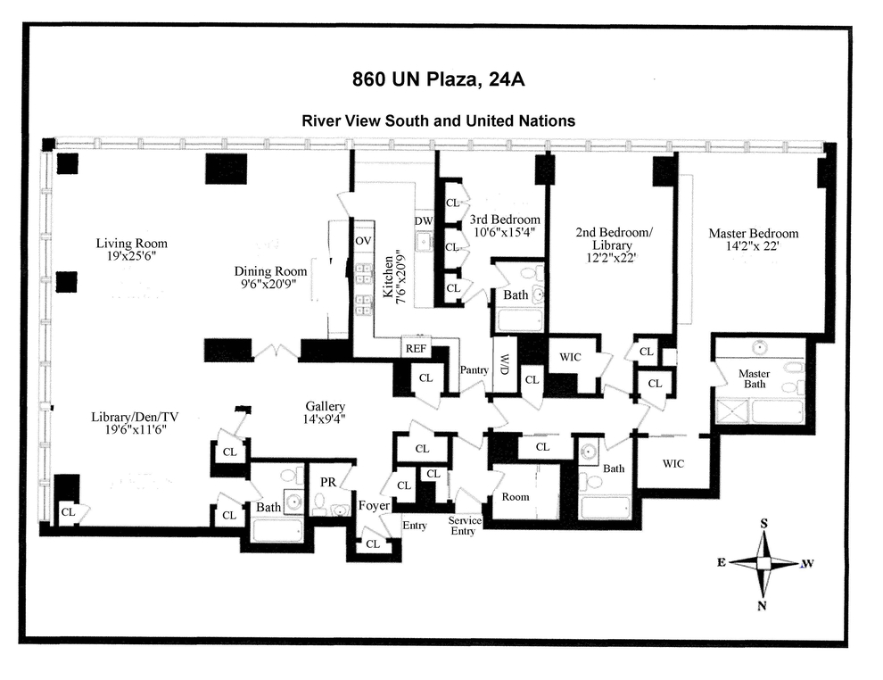 Unit 24A at 860 United Nations Plaza, New York, NY 10017