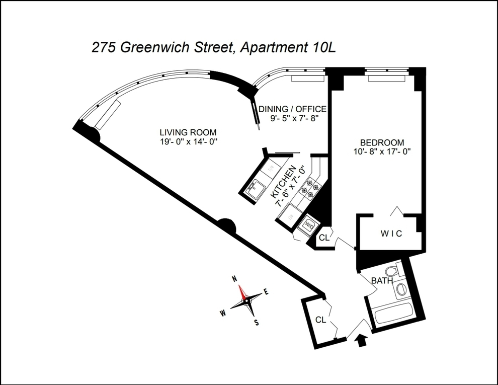 Unit 10L at 275 Greenwich Street, New York, NY 10007