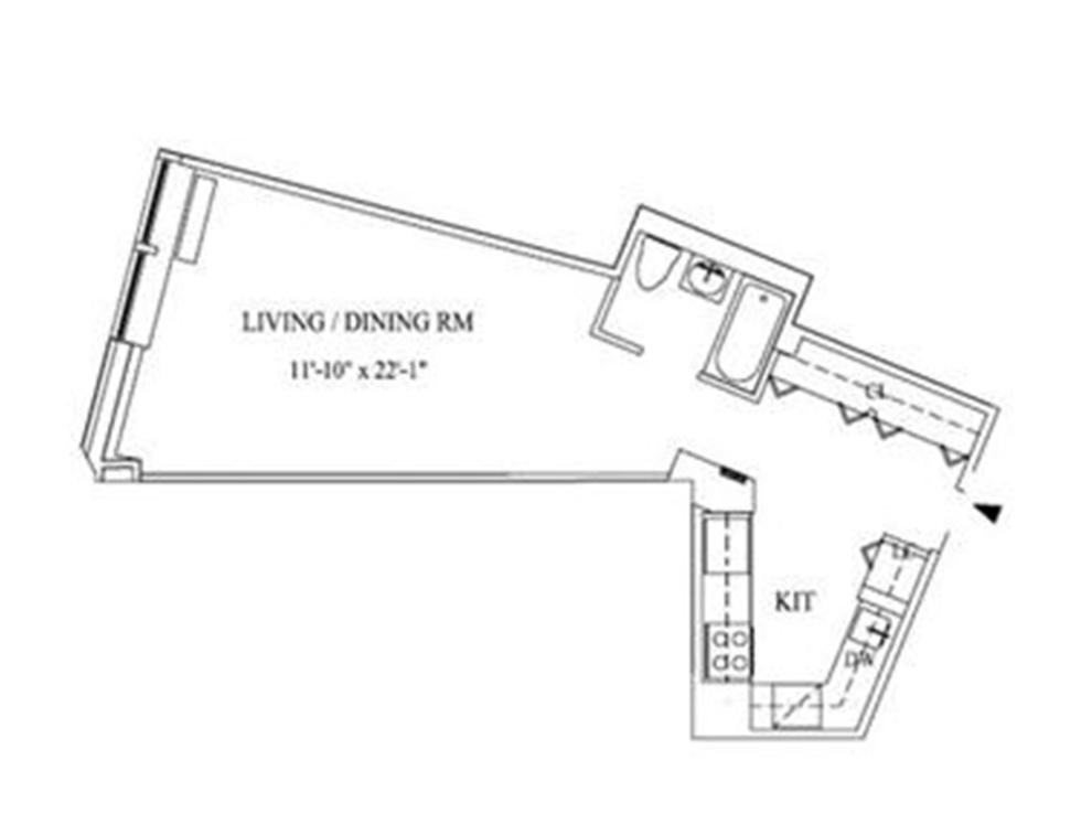 Unit 2113 at 99 John Street, New York, NY 10038