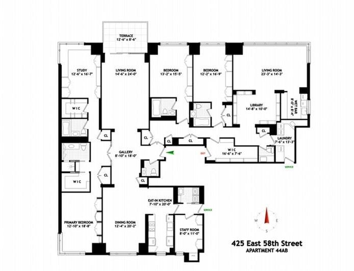 Unit 44AB at 425 East 58th Street, New York, NY 10022