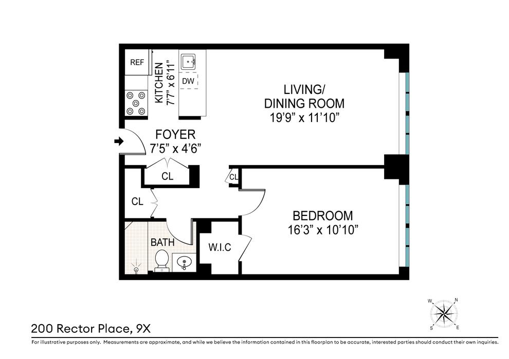 Unit 9X at 200 Rector Place, New York, NY 10280