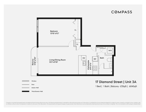 Unit 3A at 17 Diamond Street, Brooklyn, NY 11222