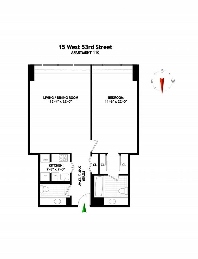 Unit 11C at 15 West 53rd Street, New York, NY 10019