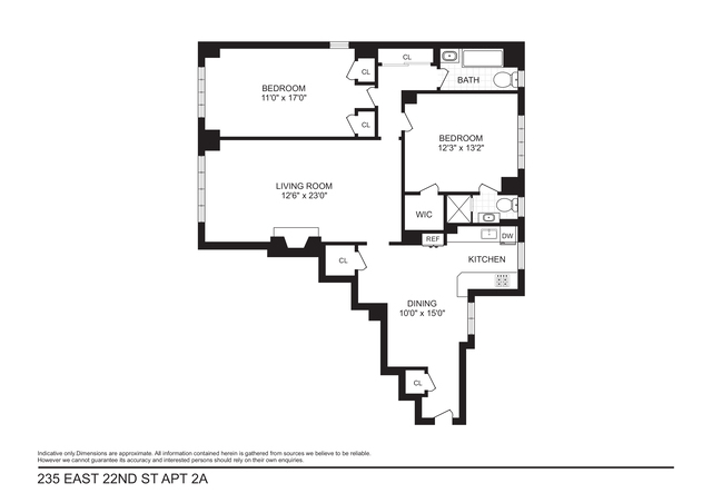 Unit 2A at 235 East 22nd Street, New York, NY 10010
