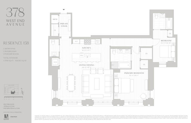 Unit 15B at 378 West End Avenue, New York, NY 10024