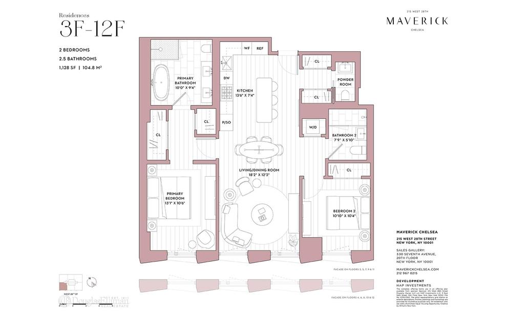 Unit 8F at 215 West 28th Street, New York, NY 10001