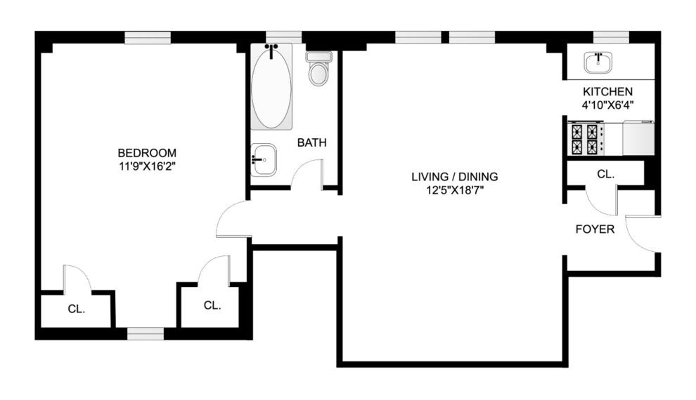 Unit 9B at 24 Monroe Place, Brooklyn, NY 11201