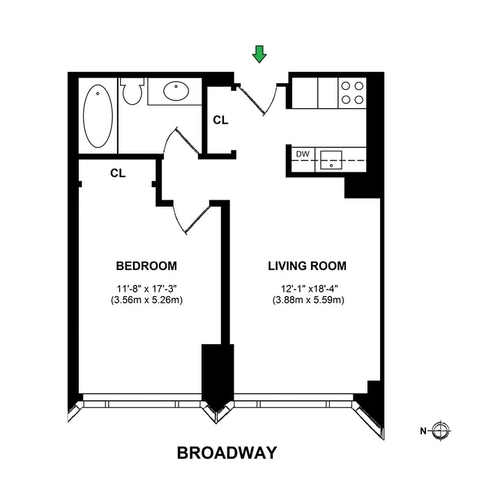 Unit 820 at 1 Central Park West, New York, NY 10023
