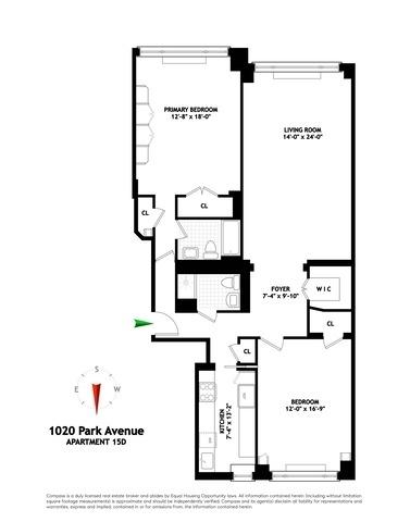 Unit 15D at 1020 Park Avenue, New York, NY 10028