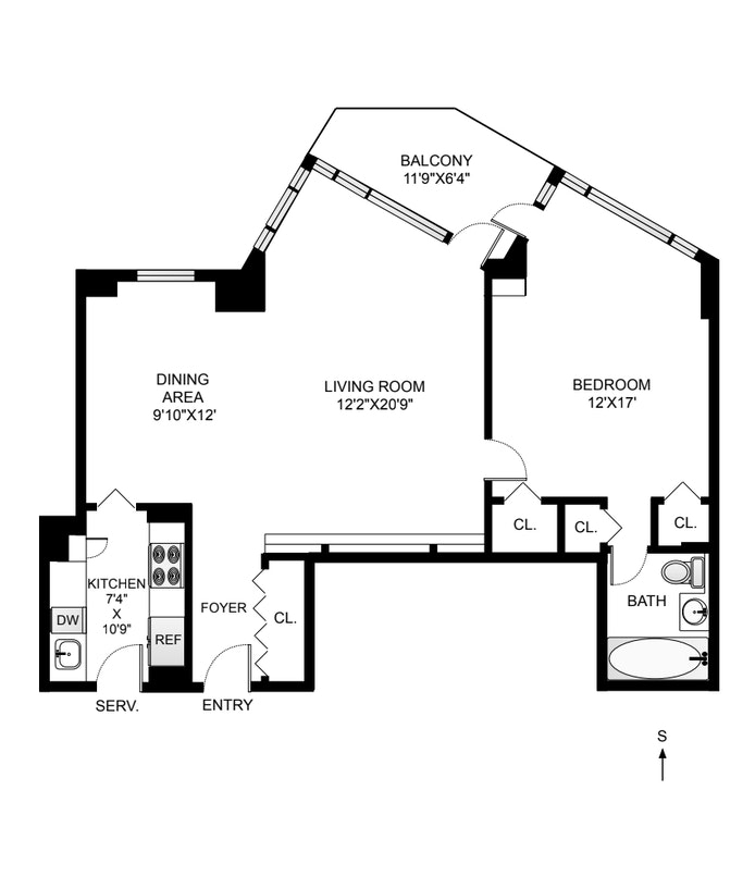 Unit 3AS at 60 Sutton Place South, New York, NY 10022