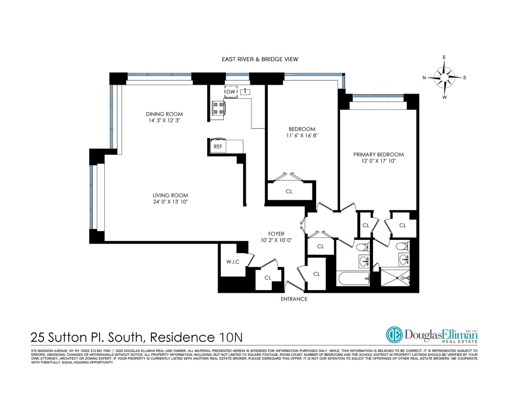 Unit 10N at 25 Sutton Place South, New York, NY 10022