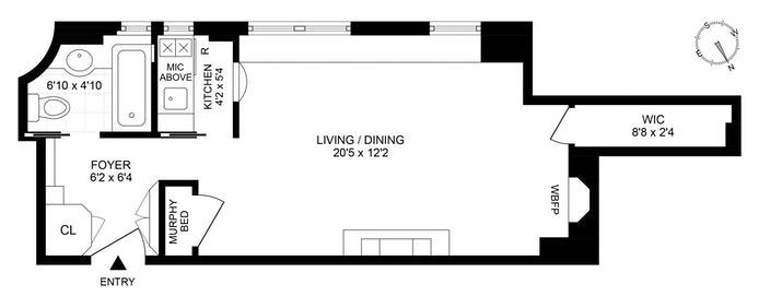 Unit 3E at 10 Mitchell Place, New York, NY 10017