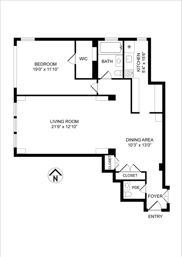 Unit 2R at 25 Sutton Place South, New York, NY 10022