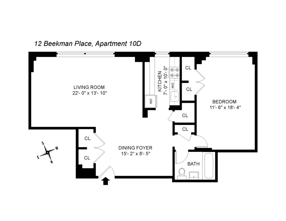 Unit 10D at 12 Beekman Place, New York, NY 10022