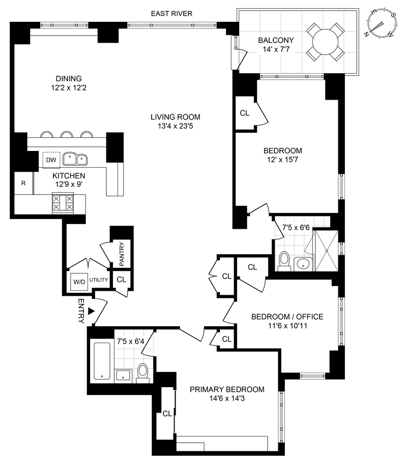 Unit 8CS at 60 Sutton Place South, New York, NY 10022