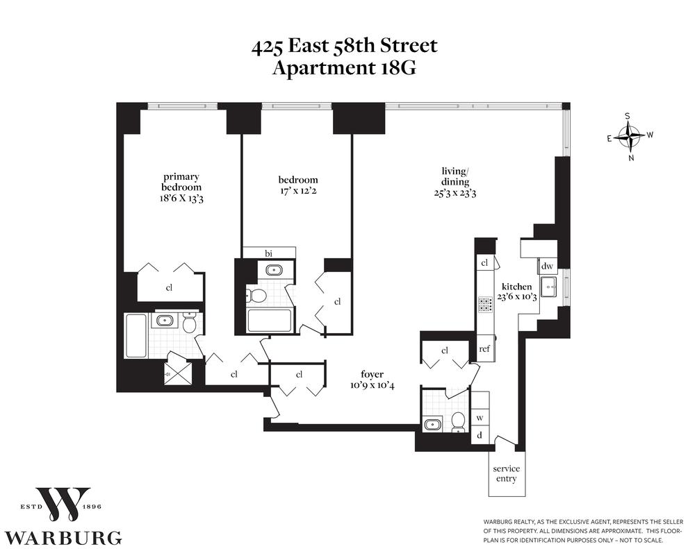 Unit 18G at 425 East 58th Street, New York, NY 10022