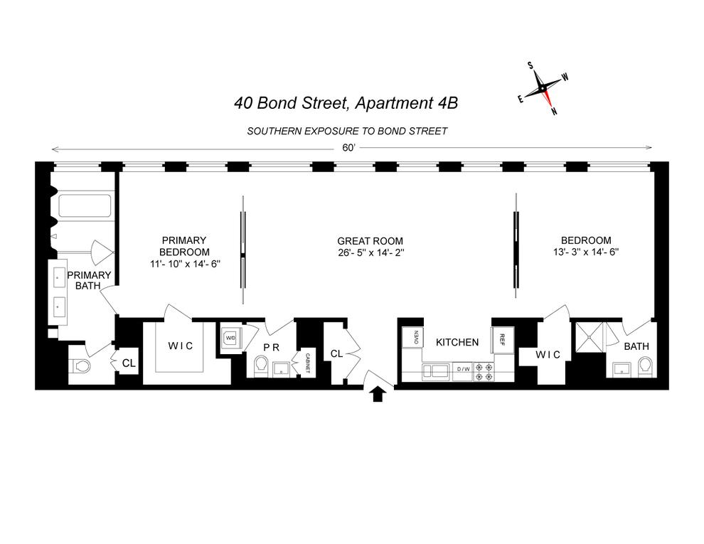Unit 4B at 40 Bond Street, New York, NY 10012