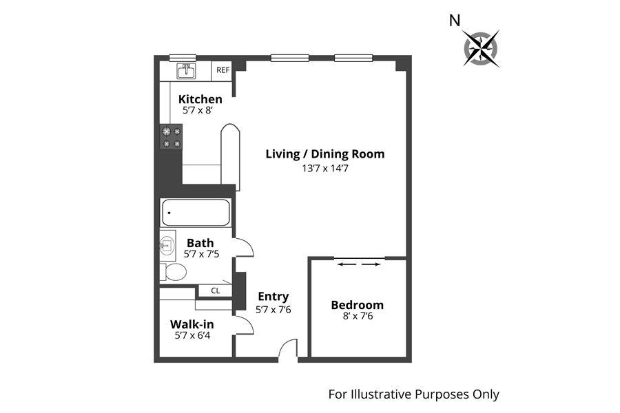 Unit 14I at 405 West 23rd Street, New York, NY 10011