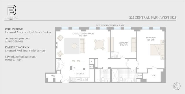 Unit 1522 at 225 Central Park West, New York, NY 10024