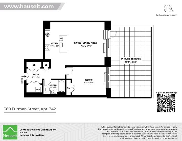 Unit 342 at 360 Furman Street, Brooklyn, NY 11201