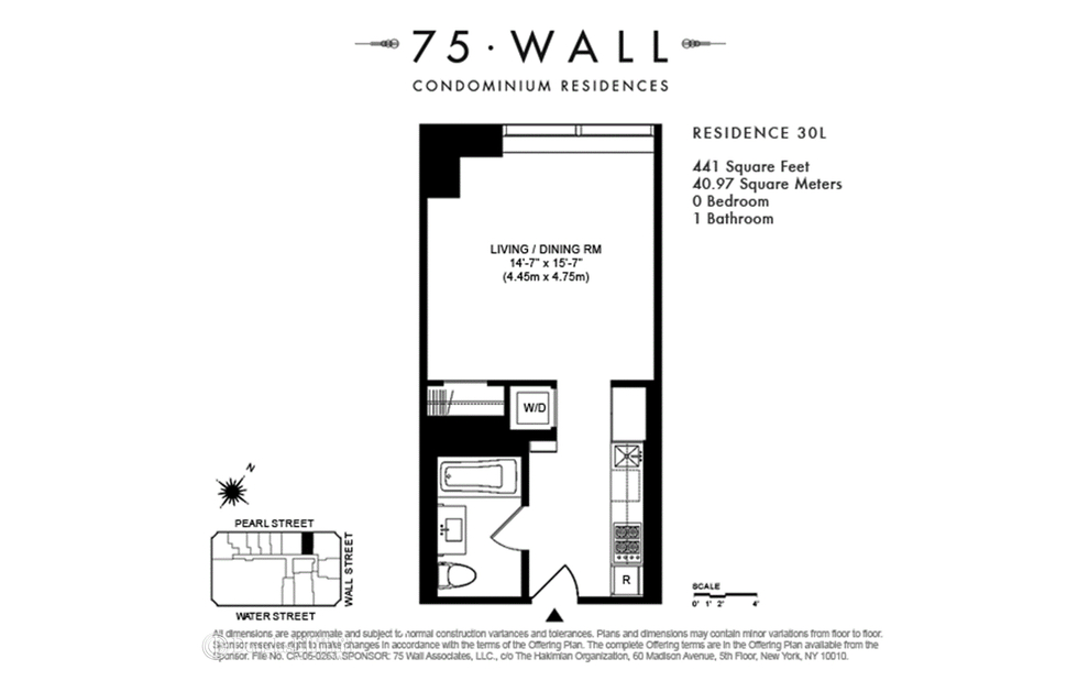 75 Wall Street #31L, New York, NY 10265: Sales, Floorplans