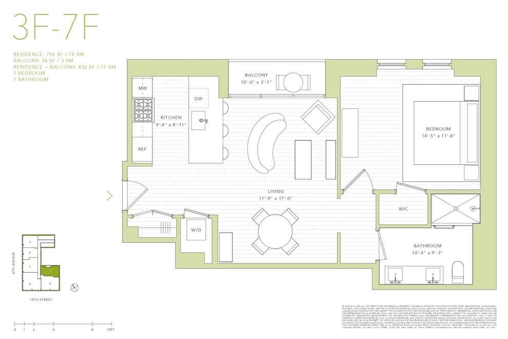 Unit 5F at 540 6th Avenue, New York, NY 10011