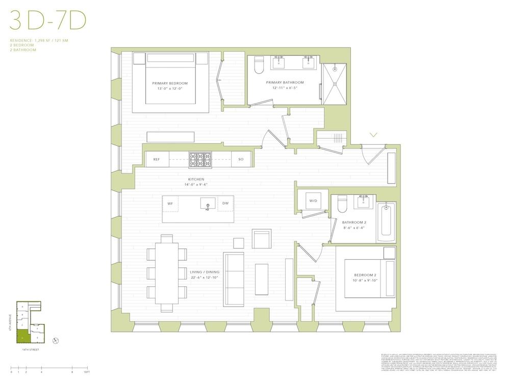 Unit 6D at 540 6th Avenue, New York, NY 10011