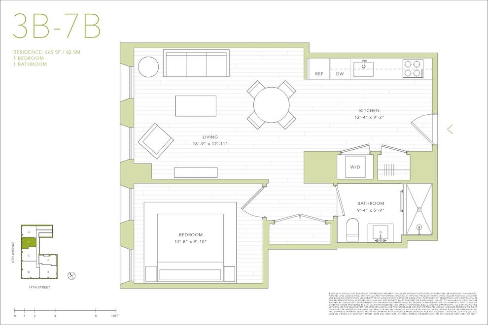 Unit 4B at 540 6th Avenue, New York, NY 10011