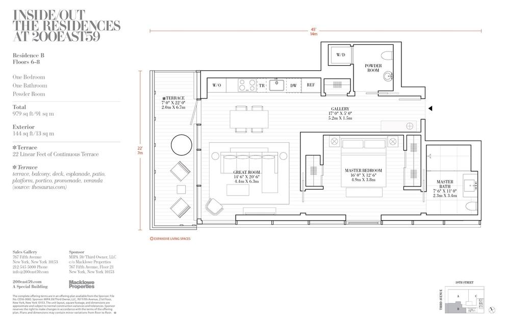 Floorplans at 200 East 59th Street, New York, NY 10022