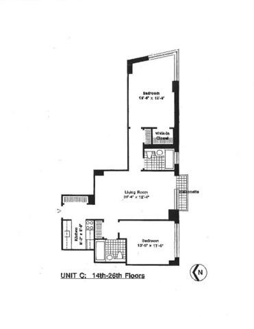 Unit 22C at 99 Battery Place, New York, NY 10280
