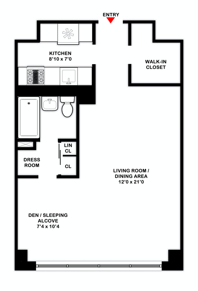 Unit 7F at 165 West End Avenue, New York, NY 10023