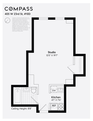 Unit 10D at 405 West 23rd Street, New York, NY 10011
