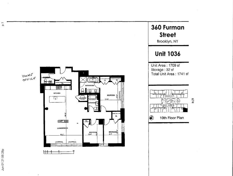Unit 1036 at 360 Furman Street, Brooklyn, NY 11201