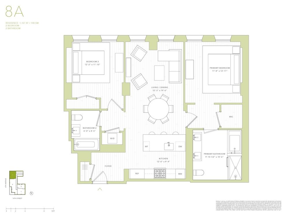 Unit 8A at 540 6th Avenue, New York, NY 10011