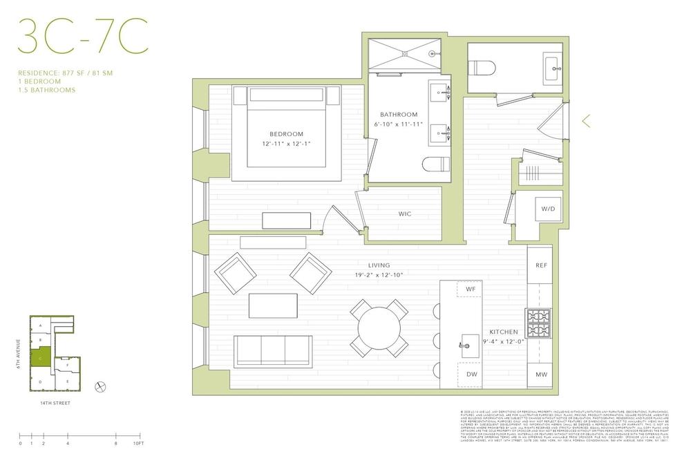 Unit 3C at 540 6th Avenue, New York, NY 10011