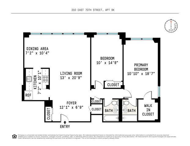 Unit 9K at 310 East 70th Street, New York, NY 10021